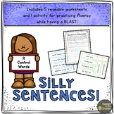 R Control Words Silly Sentences Fluency Worksheet and Activity