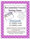 R-Controlled 1 and 2 Syllable Word Sorting Game