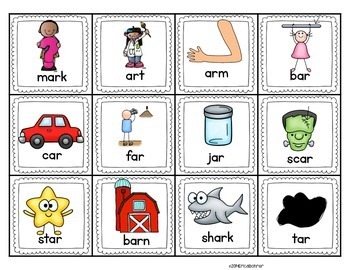 R-Controlled A (Words with -ar) Literacy Centers