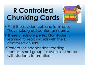 R Controlled Chunk Cards