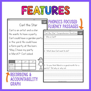 R-Controlled Vowels Fluency Passages | R-Controlled Vowels Activities