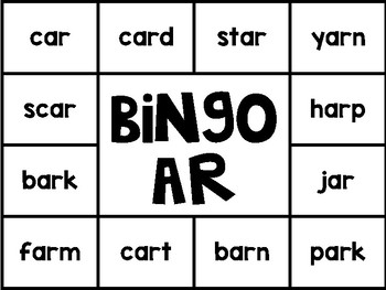 R-Controlled Solo Bingo