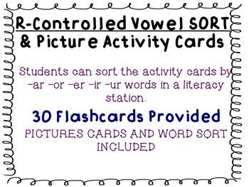R Controlled Sort and Flashcards