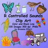 R Controlled Vowels - Realistic Phonics Clip Art - Ur Ar Er Or Ir Air