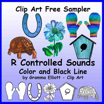 Clip Art - R Controlled Sounds - FREE - Realistic