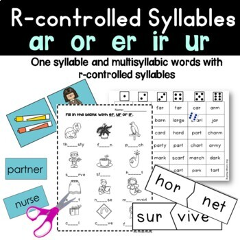R-Controlled Syllables (Level 7 Teaching Packet)