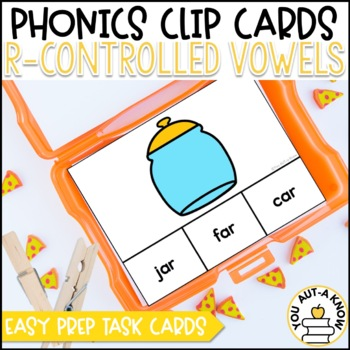 R-Controlled Vowel: AR, ER, IR, OR, and UR Clip Cards