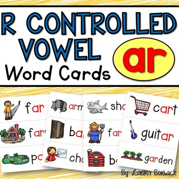 R Controlled Vowel AR Word Cards