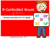 R Controlled Vowel Activities {FREEBIE}