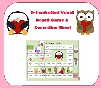R-Controlled Vowel Board Game - Valentine's Day Theme!