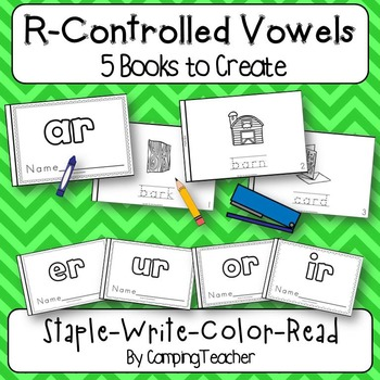 R Controlled Vowel Books {5 Books to Create}