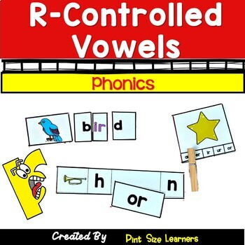 R-Controlled Vowel Center Activities and Worksheets
