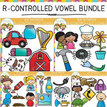 R Controlled Vowel Clip Art Bundle