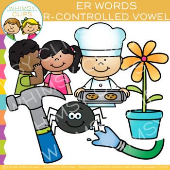 R Controlled Vowel Clip Art:  ER Words