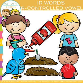 R Controlled Vowel Clip Art: IR Words