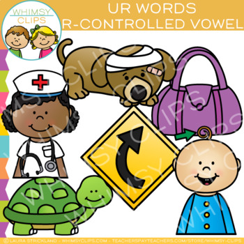 R-Controlled Vowel Clip Art: UR Words