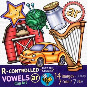 R Controlled Vowel Clipart -AR