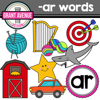 R-Controlled Vowel Clipart: AR Words