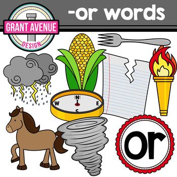 R-Controlled Vowel Clipart: OR Words
