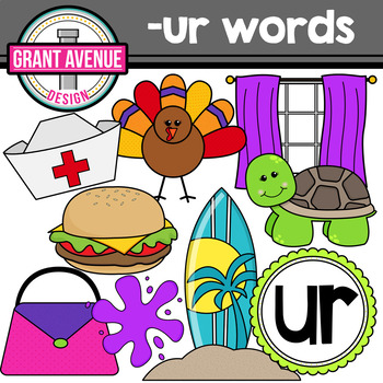 R-Controlled Vowel Clipart: UR Words