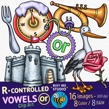 R Controlled Vowel Clipart -OR