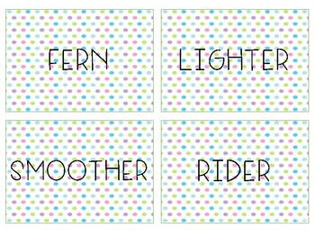 R-Controlled Vowel Flash Cards