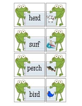 R Controlled Vowels ir, er, & ur Frogs