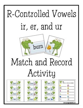 R Controlled Vowels ir, er, & ur Frogs