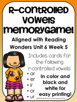 R-Controlled Vowel Game---Aligned with Reading Wonders Unit 6 Week 5