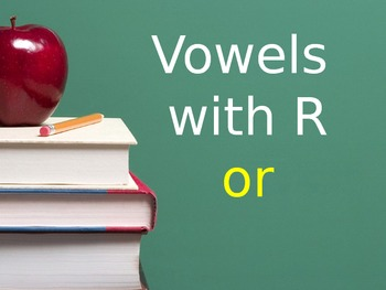 R Controlled Vowel OR Flashcards