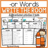 R Controlled Vowel- OR Words: Write the Room