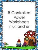R-Controlled Vowel Activity Pack (er, ir, ur)