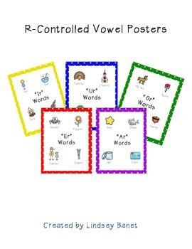 R-Controlled Vowel Poster Set (ar, er, or, ur, ir)