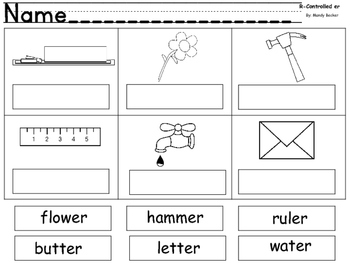 R Controlled Vowel Printables