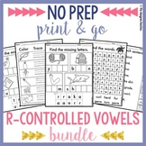 NO PREP Phonics Worksheets R-Controlled Vowels Word Work {