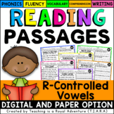 R-Controlled Vowel Reading Passages-Fluency & Skill Based Comprehension Notebook