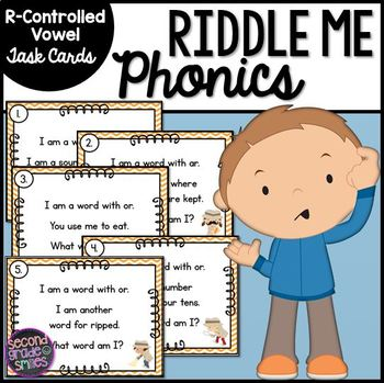 R-Controlled Vowel Riddle Task Cards