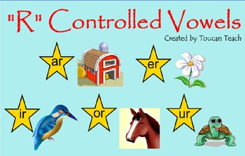 R Controlled Vowel SMARTBoard Activities
