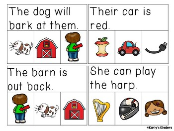 R-Controlled Vowel Sentences Read & Clip Cards