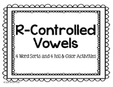 R-Controlled Vowel Sort Card and Roll and Color Activities