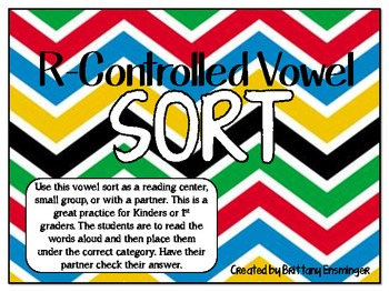 R-Controlled Vowel Sort Game