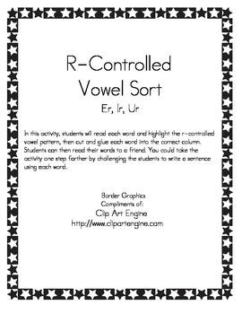 R-Controlled Vowel Sort (er, ir, ur)