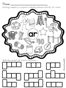 R-Controlled Vowels Dab It Worksheets