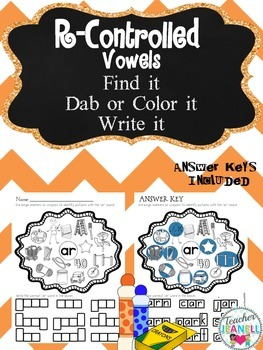 R-Controlled Vowel Sounds - Find it, Dab it, Write it!