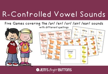 R-Controlled Vowel Sounds Games