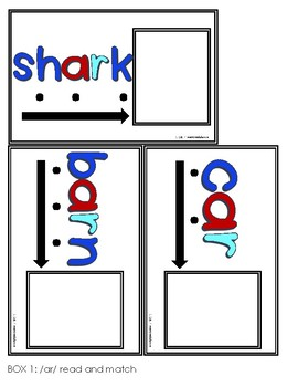 R-Controlled Vowel Task Cards [Task Box]