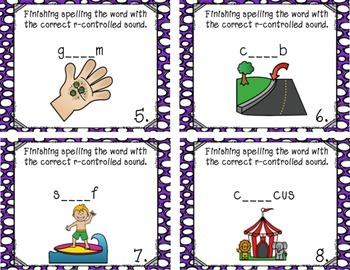 R-Controlled Task Cards (er, ir, ur)