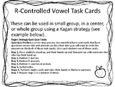 R Controlled Vowel Task Cards for Literacy Centers and Kagan Structure