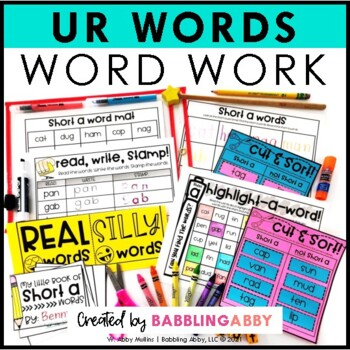 R-Controlled Vowel UR Word Work for Literacy Centers
