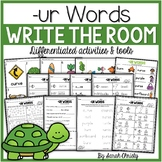 R Controlled Vowel- UR Words: Write the Room